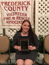 Elyssa Cool with the James H. Stavely III Fire Prevention Award