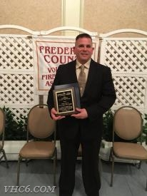 Dave Zentz receives the FCVFRA Firefighter of the Year Award