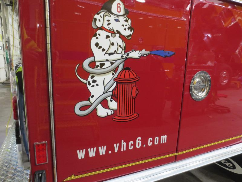 "VHC Mascot 'Hoser"" just as he appears on all VHC Apparatus"