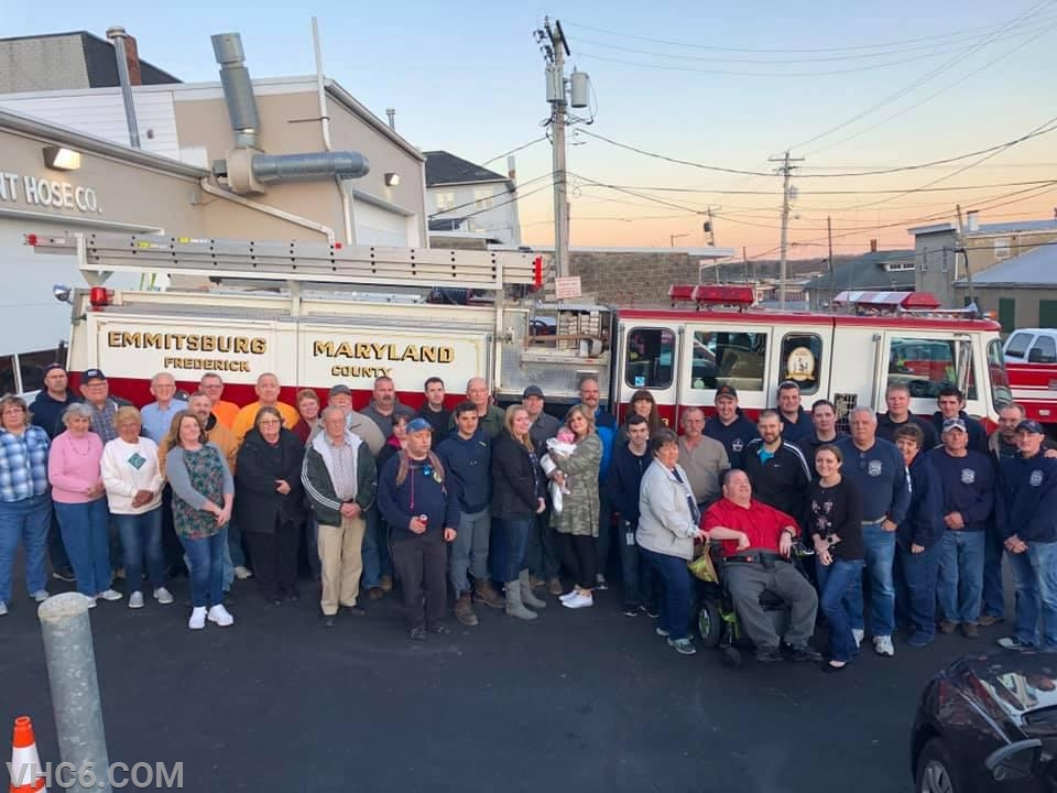 VHC members with PMVFD volunteers for a final picture with E63.